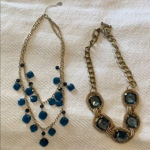 Macy's and Talbots statement necklaces